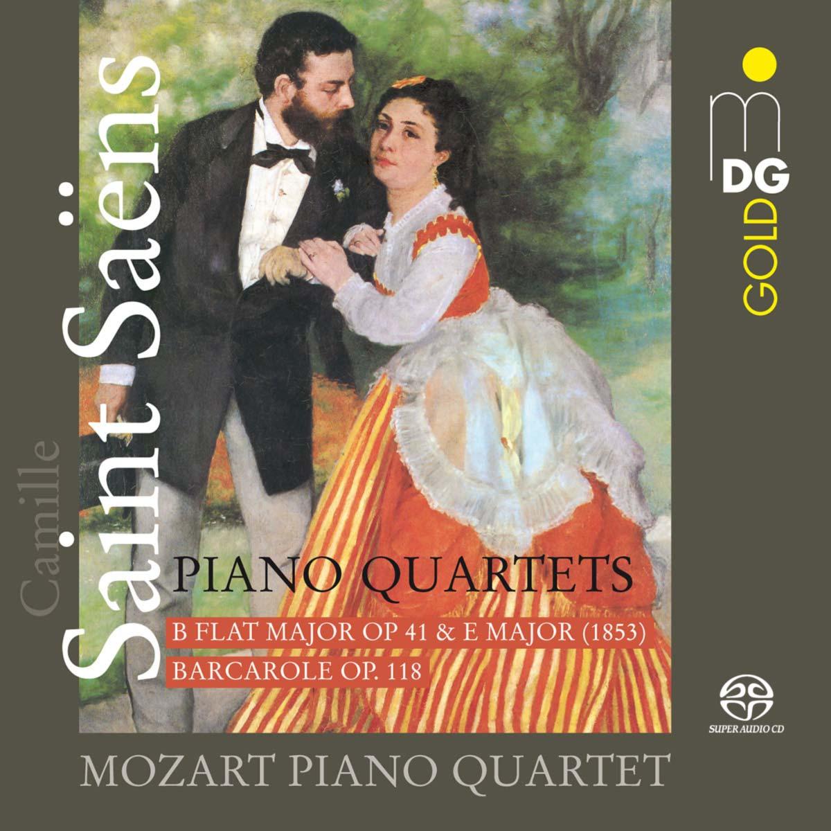 CD Camille Saint-Saëns - Complete Piano Quartets by the Mozart Piano Qartet, Cover © Dabringhaus und Grimm Audiovision GmbH