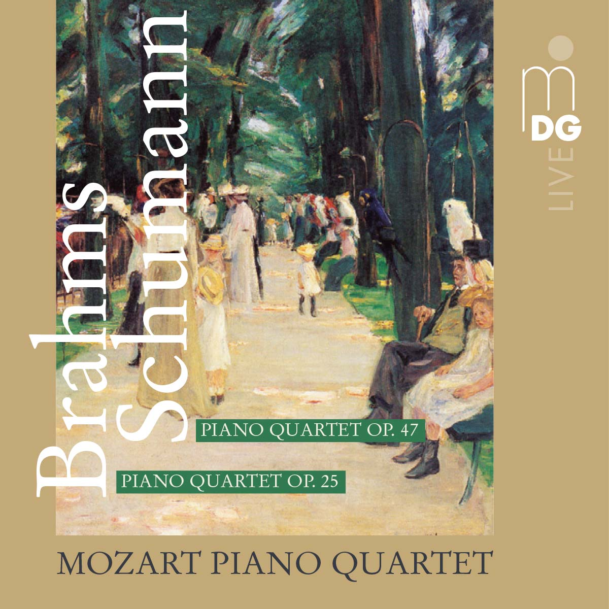 CD Schumann / Brahms: Piano Quartets by the Mozart Piano Quartet, Cover © Dabringhaus und Grimm Audiovision GmbH