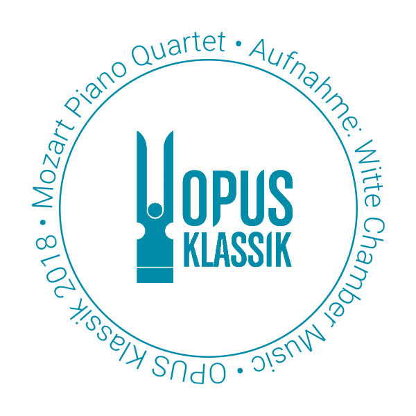 OPUS Klassik 2018 for the Mozart Piano Quartet's recording Witte - Piano Quartets